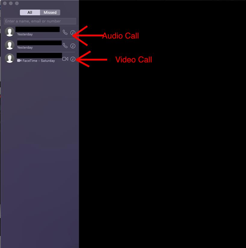 FaceTime imagen en Mac