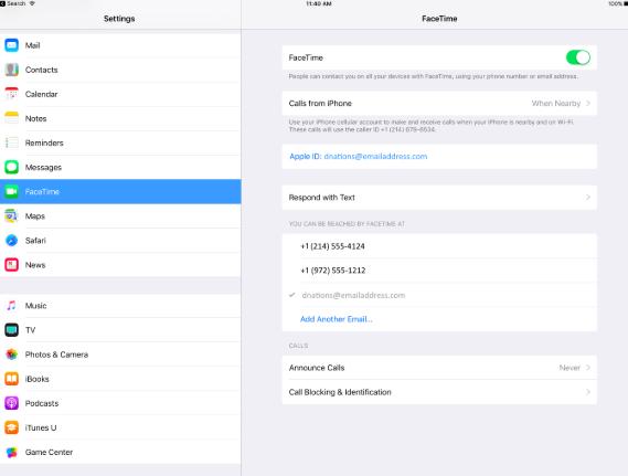 configurar FaceTime imagen para mac
