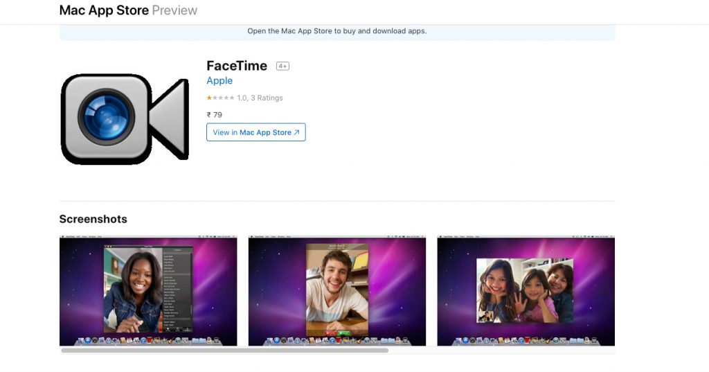 Download FaceTime imagem mac para