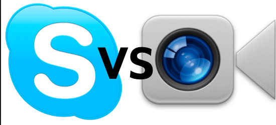 skype vs Facetime Bild