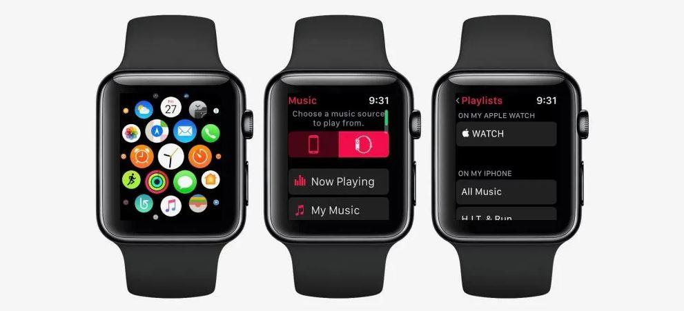 Escuchar música en el Apple Seguir
