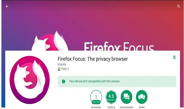 Firefox Fokus untuk PC