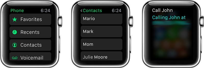 Jak odbierać i wykonywać połączenia telefoniczne na temat Apple Watch
