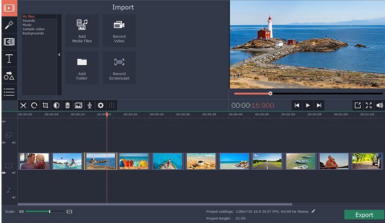 Pobierz Movavi Slideshow Maker na PC Windows 10
