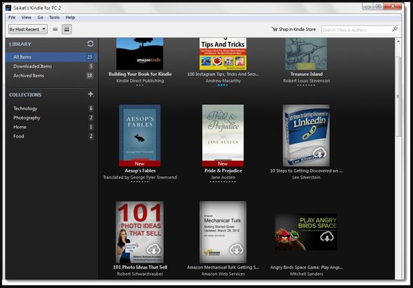 Kindle Reader mo PC Windows