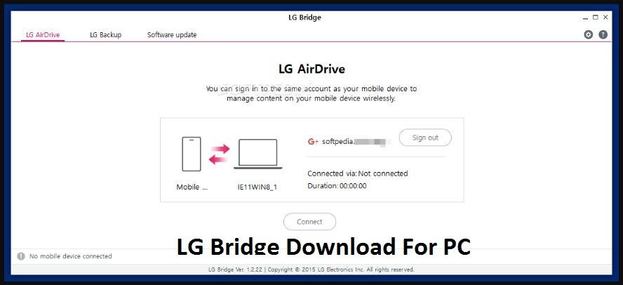 LG Bridge For PC Windows