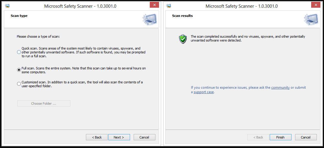 Khoasolla Microsoft Safety Scanner Bakeng sa PC Windows