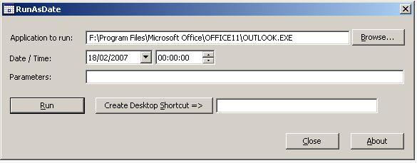 RunAsDate on PC Windows